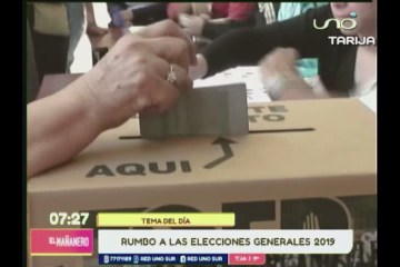 TEMA DEL DÍA: LAS ELECCIONES GENERALES DE BOLIVIA DE 2019