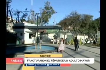 FRACTURARON EL FÉMUR DE UN ADULTO MAYOR