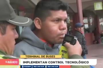 IMPLEMENTAN CONTROL TECNOLÓGICO EN LA TERMINAL DE BUSES