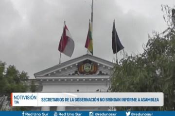 SECRETARIOS DE LA GOBERNACIÓN NO BRINDAN INFORME A LA ASAMBLEA