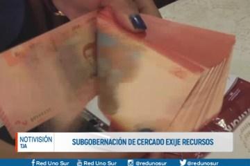 SUBGOBERNACIÓN DE CERCADO EXIGE RECURSOS