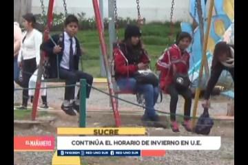 CONTINÚA EL HORARIO DE INVIERNO EN UNIDADES EDUCATIVAS