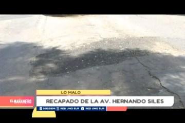 LO MALO: BACHES EN LA AVENIDA HERNANDO SILES