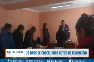 DICTAN 30 AÑOS DE CÁRCEL PARA AUTOR DE FEMINICIDIO