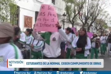 ESTUDIANTES DE LA NORMAL EXIGEN CUMPLIMIENTO DE OBRAS