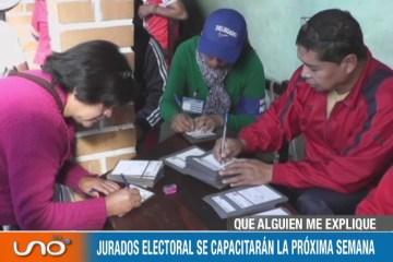 QUÉ ALGUIEN ME EXPLIQUE: JURADOS ELECTORALES