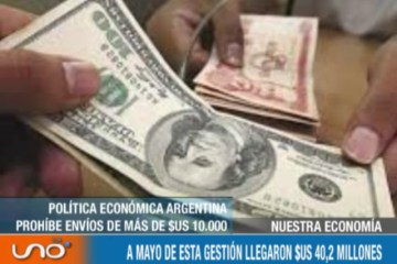 NUESTRA ECONOMÍA: REMESAS DE ARGENTINA SE DESPLOMAN UN 47% HASTA MAYO