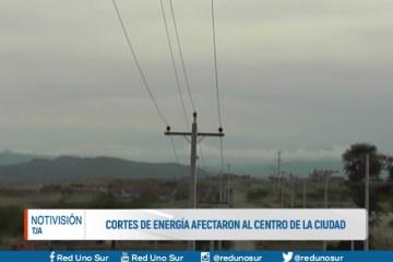 CORTES DE ENERGÍA AFECTARON AL CENTRO DE LA CIUDAD