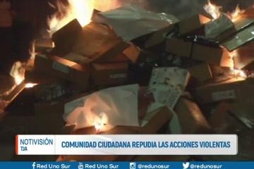 COMUNIDAD CIUDADANA REPUDIA LAS ACCIONES VIOLENTAS