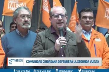 COMUNIDAD CIUDADANA DEFENDERÁ LA SEGUNDA VUELTA
