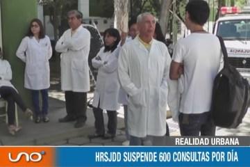 HRSJDD SUSPENDE 600 CONSULTAS POR DÍA