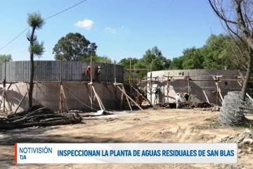 INSPECCIONARON LA PLANTA DE AGUAS RESIDUALES DE SAN BLAS