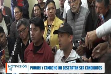 PUMARI Y CAMACHO NO DESCARTAN SU CANDIDATURA