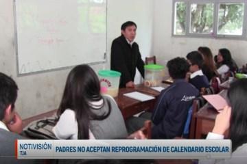 PADRES NO ACEPTAN REPROGRAMACIÓN DEL CALENDARIO ESCOLAR