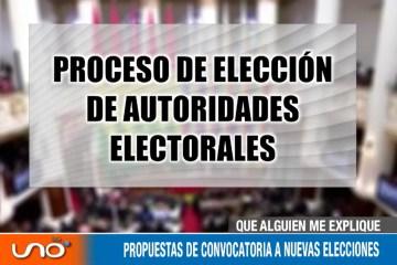 PROPUESTAS DE CONVOCATORIA A NUEVAS ELECCIONES