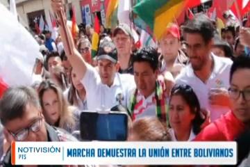 MARCHA POR LA UNIÓN ENTRE BOLIVIANOS
