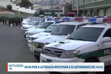 OLIVA PIDE A LA FISCALÍA INVESTIGAR A EX AUTORIDADES DEL MAS