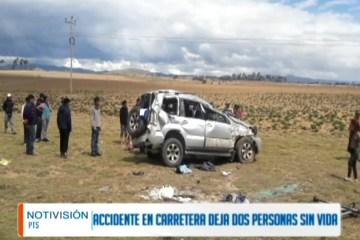 ACCIDENTE EN CARRETERA DEJA DOS FALLECIDOS