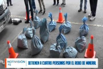 DETIENEN A CUATRO PERSONAS POR ROBO DE MINERAL