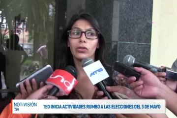 TED INICIA ACTIVIDADES RUMBO A LAS ELECCIONES DEL 3 DE MAYO