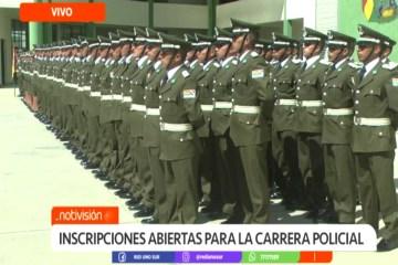 INSCRIPCIONES ABIERTAS PARA LA CARRERA POLICIAL