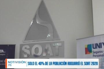 SÓLO EL 40% DE LA POBLACIÓN POTOSINA ADQUIRIÓ EL SOAT 2020