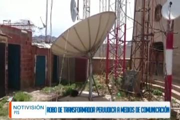 ROBO DE TRANSFORMADOR PERJUDICA A MEDIOS DE COMUNICACIÓN