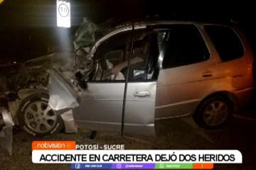 ACCIDENTE EN CARRETERA DEJA DOS HERIDOS