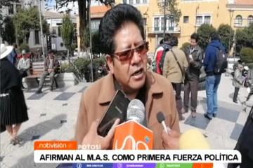 AFIRMAN AL MAS COMO PRIMERA FUERZA POLÍTICA