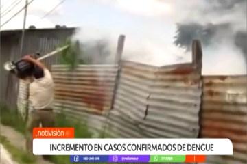 INCREMENTO EN CASOS CONFIRMADOS DE DENGUE