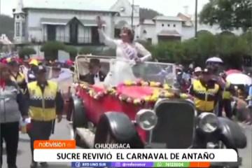 SUCRE REVIVIÓ EL CARNAVAL DE ANTAÑO