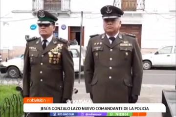 JESÚS GONZALO LAZO ES EL NUEVO COMANDANTE DE LA POLICÍA