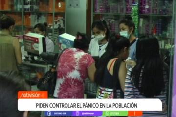 PIDEN CONTROLAR EL PÁNICO EN LA POBLACIÓN