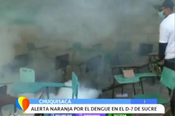 ALERTA NARANJA POR DENGUE EN EL D-7 DE SUCRE
