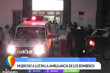 MUJER DIO A LUZ EN LA AMBULANCIA DE BOMBEROS