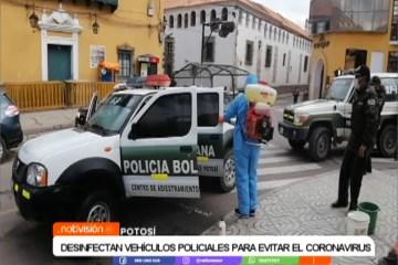 DESINFECCIÓN DE VEHÍCULOS POLICIALES