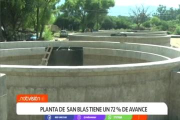 PLANTA DE SAN BLAS TIENE UN 72% DE AVANCE