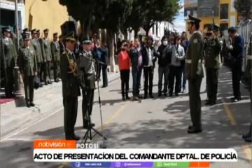 ACTO DE PRESENTACIÓN DEL COMANDANTE DEPARTAMENTAL DE POLICÍA
