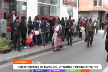 EXISTE ESCASEZ DE BARBIJOS, VITAMINAS Y DESINFECTANTES