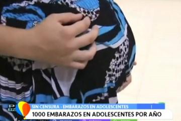 SIN CENSURA: 1000 EMBARAZOS EN ADOLESCENTES POR AÑO