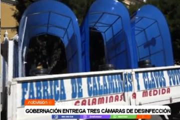 GOBERNACIÓN ENTREGA TRES CÁMARAS DE DESINFECCIÓN