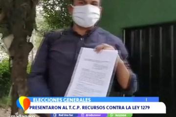 PRESENTARON UN RECURSO CONTRA LA LEY DE POSTERGACIÓN DE ELECCIONES