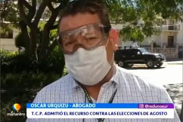 TCP ADMITIÓ EL RECURSO CONTRA LAS ELECCIONES DE AGOSTO