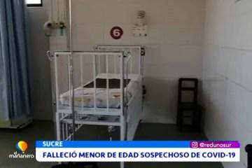FALLECIÓ UN MENOR DE EDAD SOSPECHOSO DE COVID 19