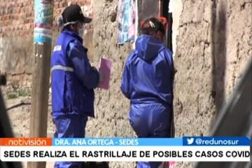 SEDES REALIZA EL RASTILLAJE DE POSIBLES CASOS COVID
