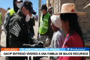 GACIP ENTREGÓ VÍVERES A UNA FAMILIA DE BAJOS RECURSOS