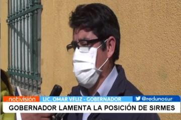 GOBERNADOR LAMENTA LA POSICIÓN DE SIRMES