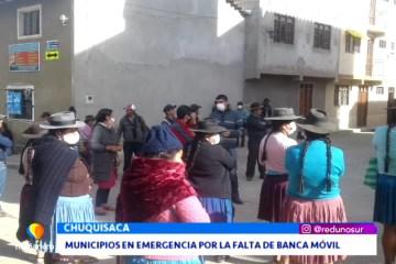 MUNICIPIOS EN EMERGENCIA POR LA FALTA DE BANCA MÓVIL
