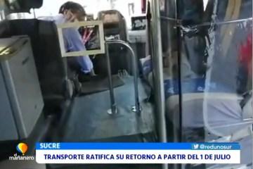 EL TRANSPORTE RATIFICA SU RETORNO A PARTIR DEL 1 DE JULIO