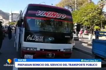 PREPARAN EL REINICIO DEL SERVICIO DE TRANSPORTE PÚBLICO